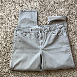 American Eagle Tomgirl pants size 14 Long Tan